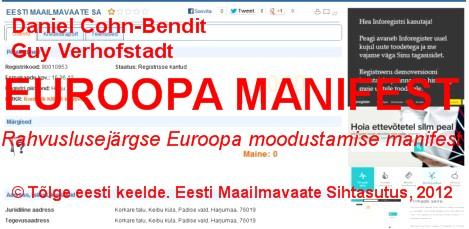 Rahvuslusejärgse Euroopa moodustamise manifest