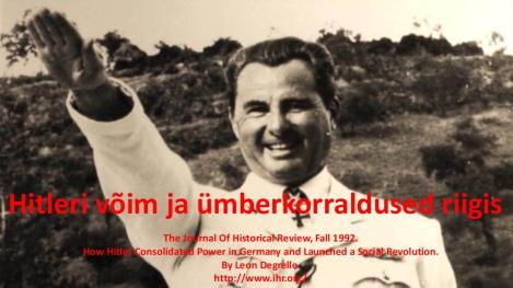 Leon Degrelle - Hitleri võim ja ümberkorraldused riigis